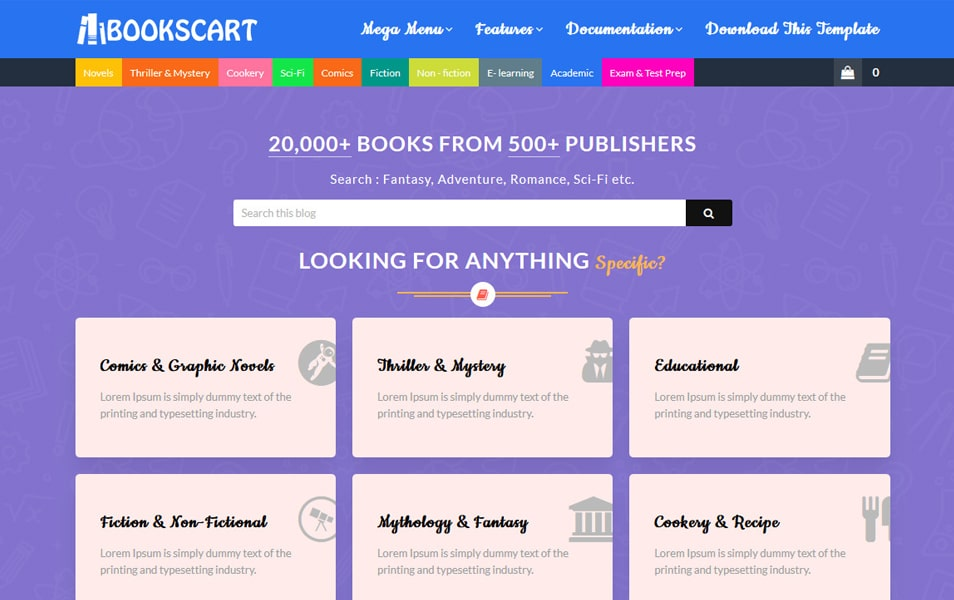 Books Cart Responsive Blogger Template 2