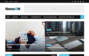 NewsOn Responsive Blogger Template 2
