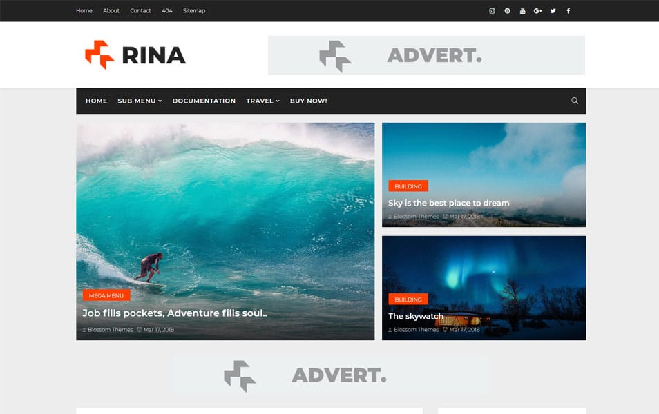 Rina Responsive Blogger Template 2