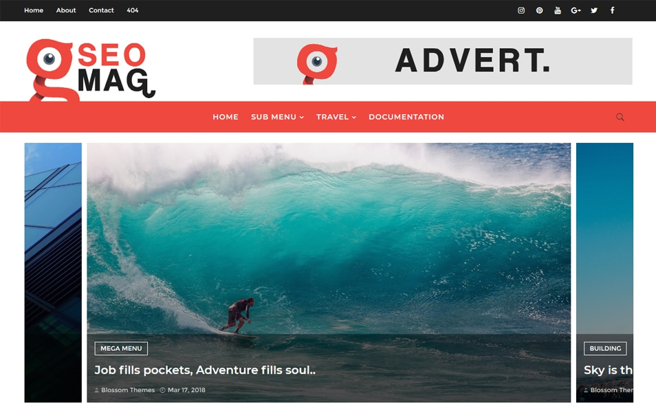 SEO MAG Responsive Blogger Template 2