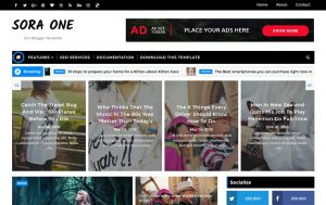Sora One Responsive Blogger Template 1