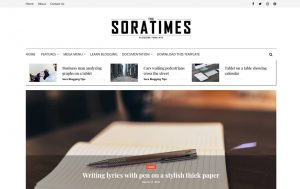 Sora Times Responsive Blogger Template 1