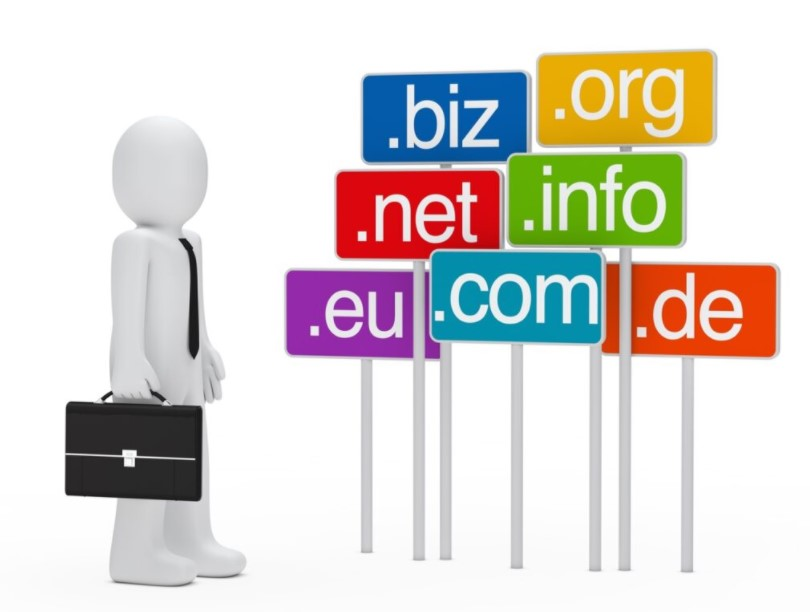various kinds of top level domain tld on the website